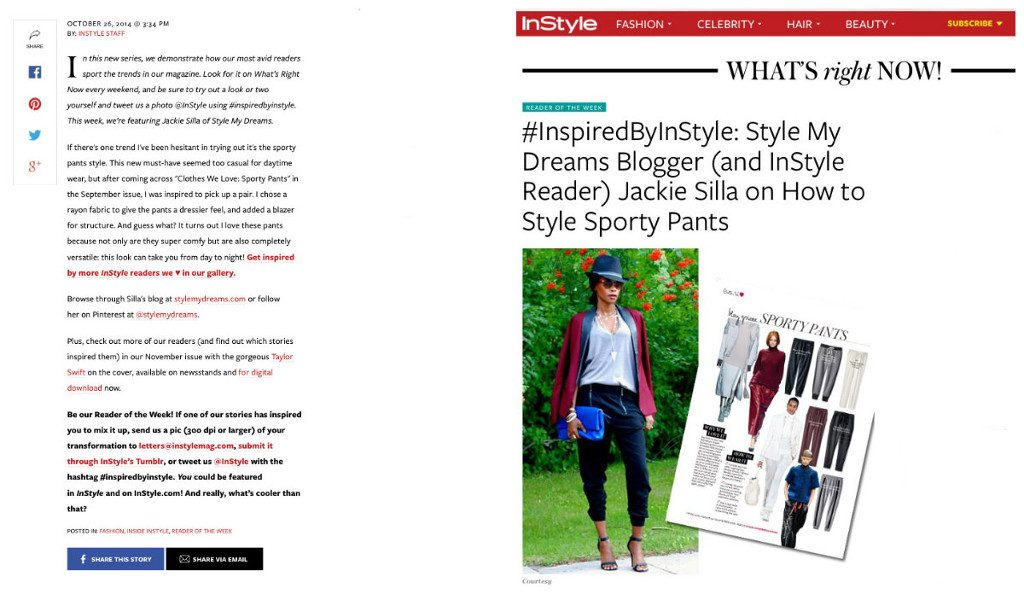 style my dreams, instyle, inspired by instyle, winnipeg fashion blogger jackie silla, jackie silla instyle magazine,