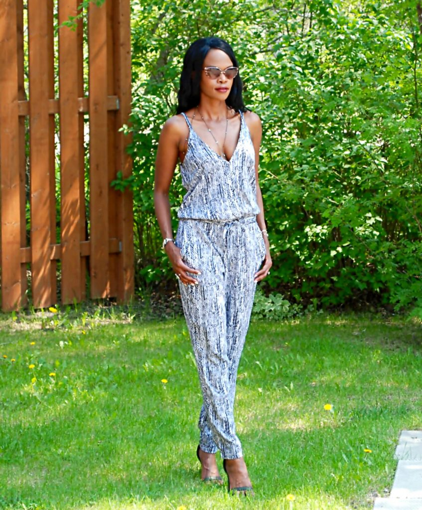 Splendid arrow print jumpsuit, body chain, style my dreams, winnipeg fashion blogger, splendid jumpsuit, jumpsuit