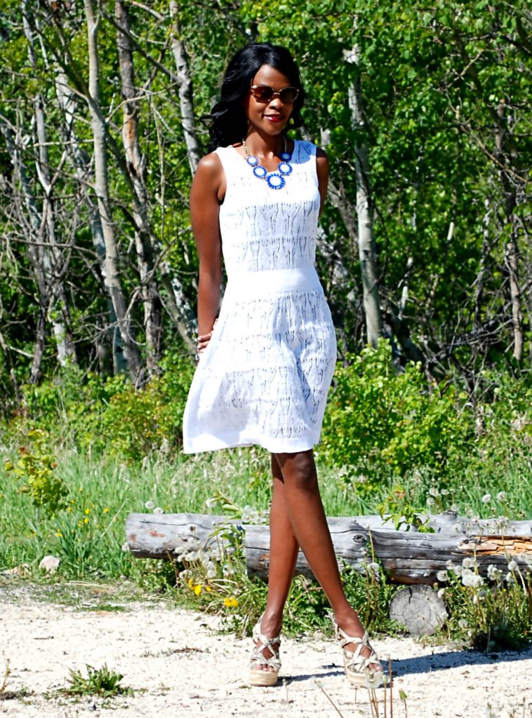 Summer Dress + Wedge Sandals