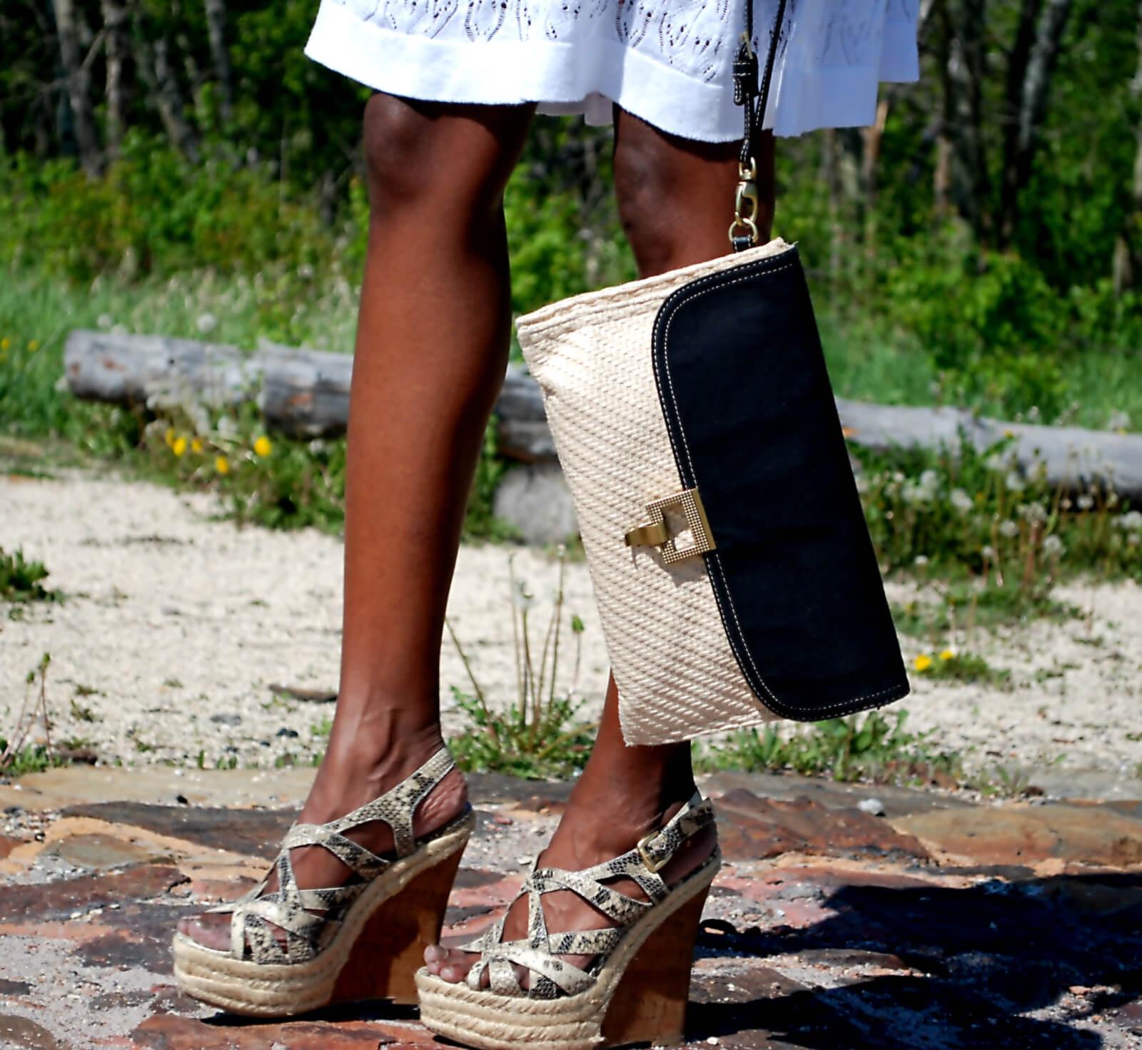 c3a2716b9e Summer Dress + Wedge Sandals