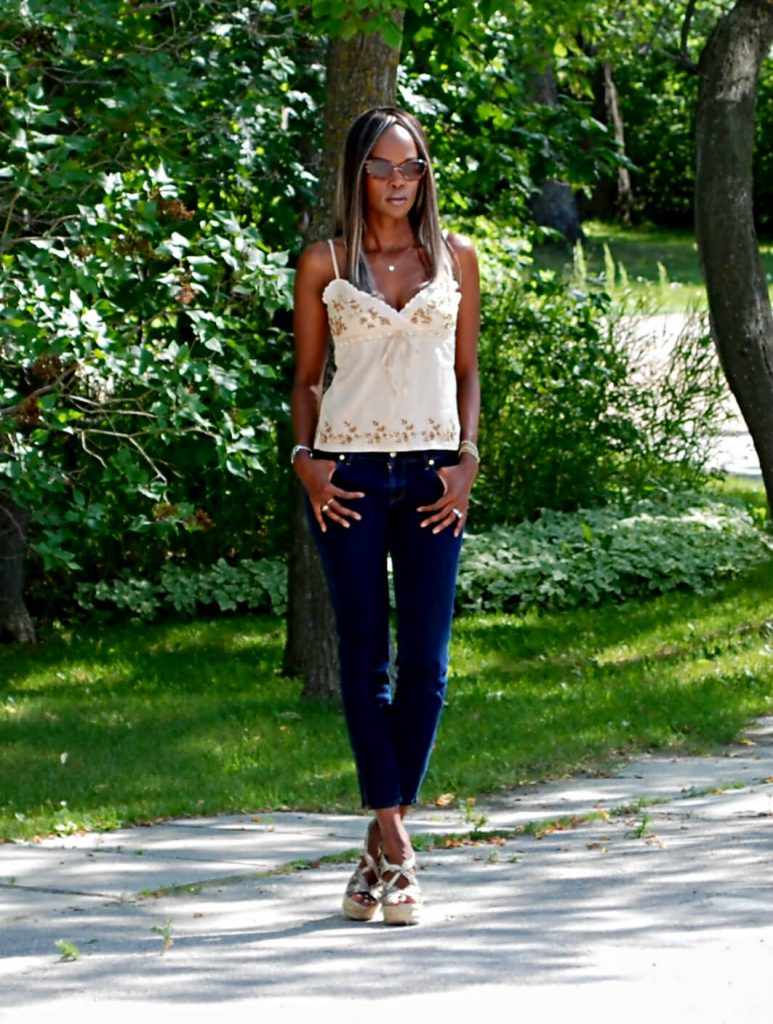 Beaded tank top, rich & skinny denim, style my dreams, fashion blogger, summer tank top, boutique 9 wedge sandals, snake skin wedge sandals