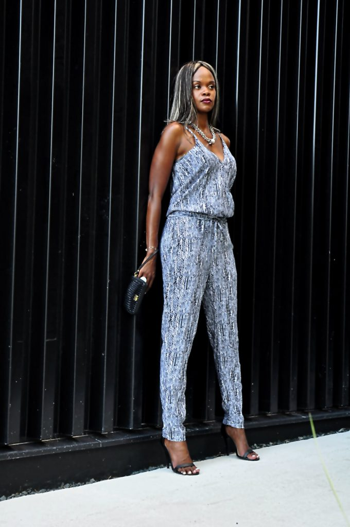 jumpsuit, splendid jumpsuit, printed jumpsuit, ankle strap heels, anne michelle black heels, style my dreams blog, winnipeg fashion, statement necklace, summer fashion, winnipeg fashion blogger, summer fashion, winnipeg architect and design, coach wallet