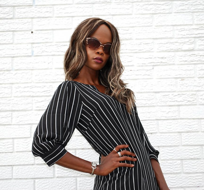 Shirt Dress, mules, summer fashion, black jason wu clutch, eShakti dress, Eshakti pin striped shirt dress, style my dreams blog, winnipeg fashion blogger , design lab mules,