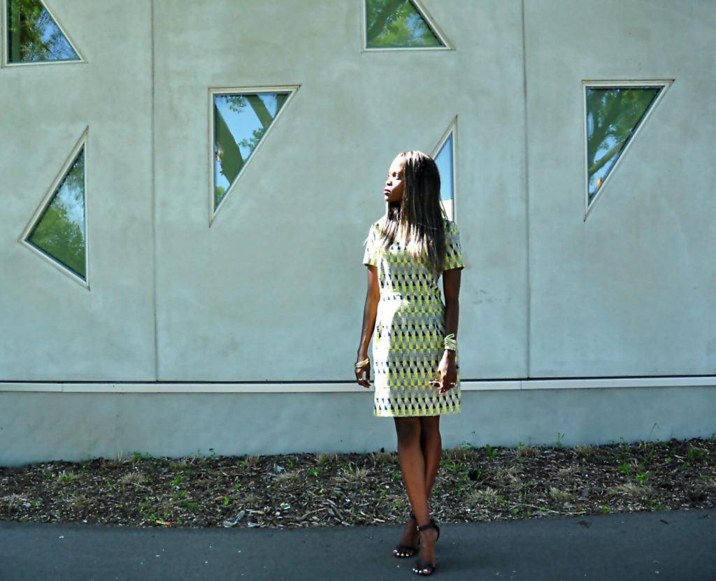 winnipeg, winnipeg fashion blogger, summer prints, mayfair recreational centre, style my dreams blog, summer dresses, Yellow printed dress, black ankle strap heels