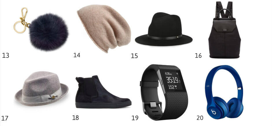 style my dreams blog, christmas gift guide, gift guide, cashmere beanie, fedora, rag & bone fedora, fitbit watch for him, black christopher kane slip-ons beats by dre headphones, alexander mcqueen backpack