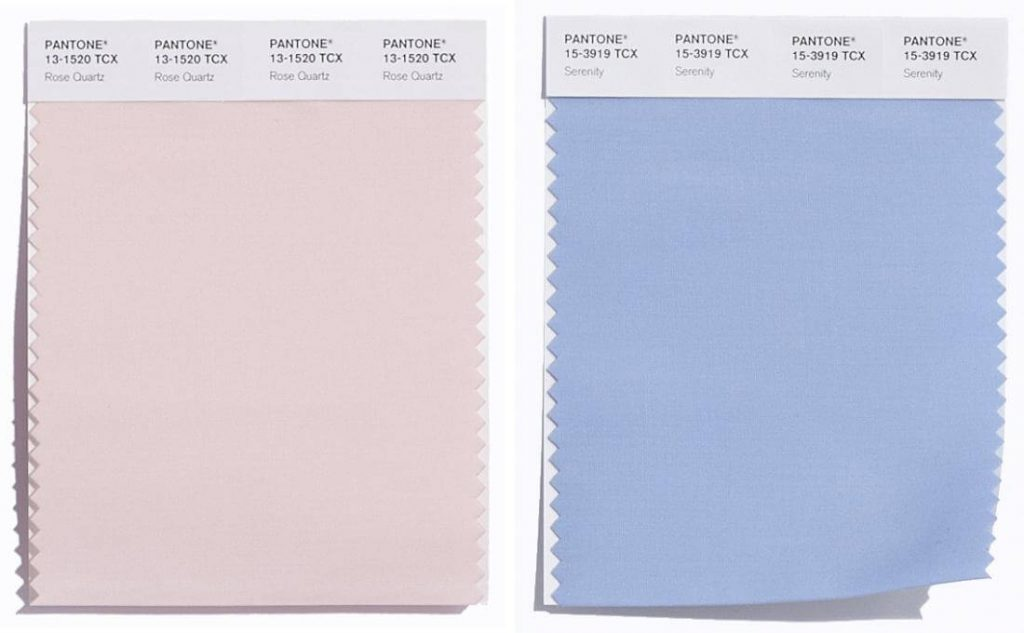 Pantone color of the year 2016 rose quartz and serenity, fashion color of the year, color chart, pale pink, baby blue, style my dreams blog