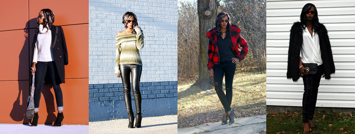 winnipeg fashion blogger, style my dreams, buffalo check plaid jacket, plaid jacket, coat trends, wool coat, duster coat, cuffed denim, faux fur jacket, off the shoulder tops, leather leggings, fashion blogger, outfit of the day, jacket trends 2015