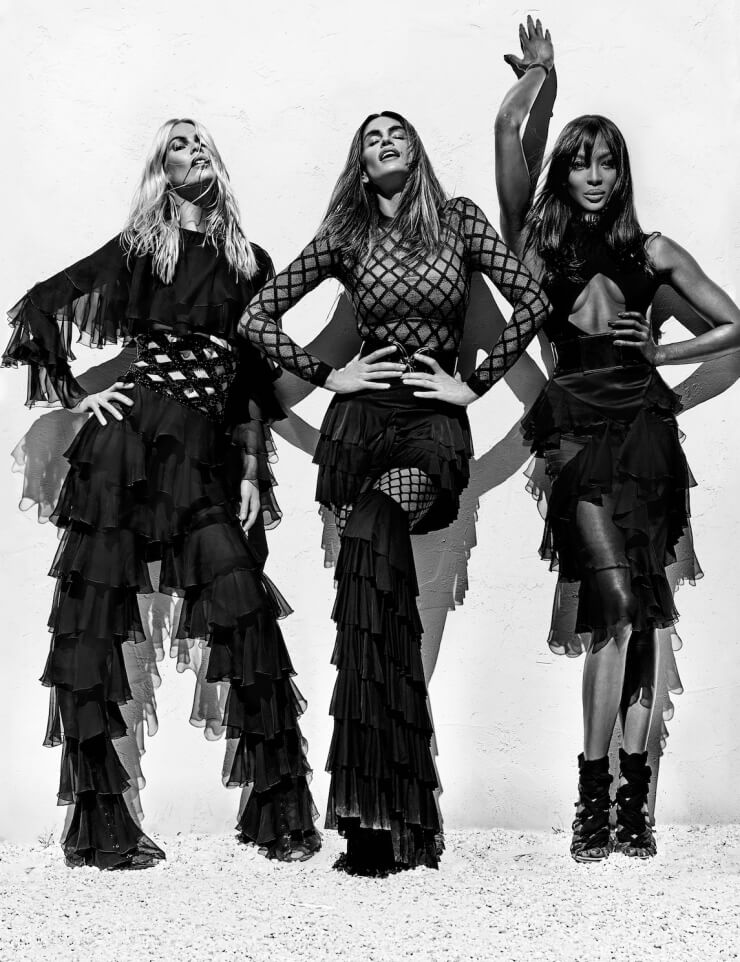 Balmain Spring 2016 Ad Campaign, cindy crawford, Olivier Rousteing, Claudia Schiffer, Naomi Campbell, balmain army