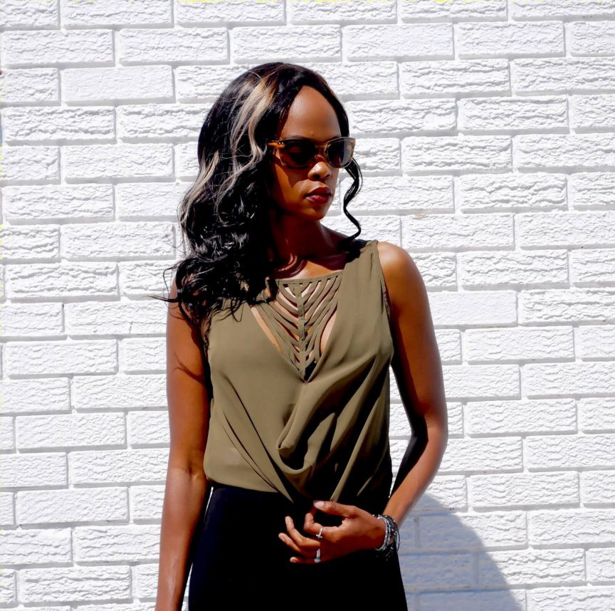 Nygård Slims Luxe, olive green top, winnipeg fashion blogger, Style my Dreams blog, shapewear, spring fashion