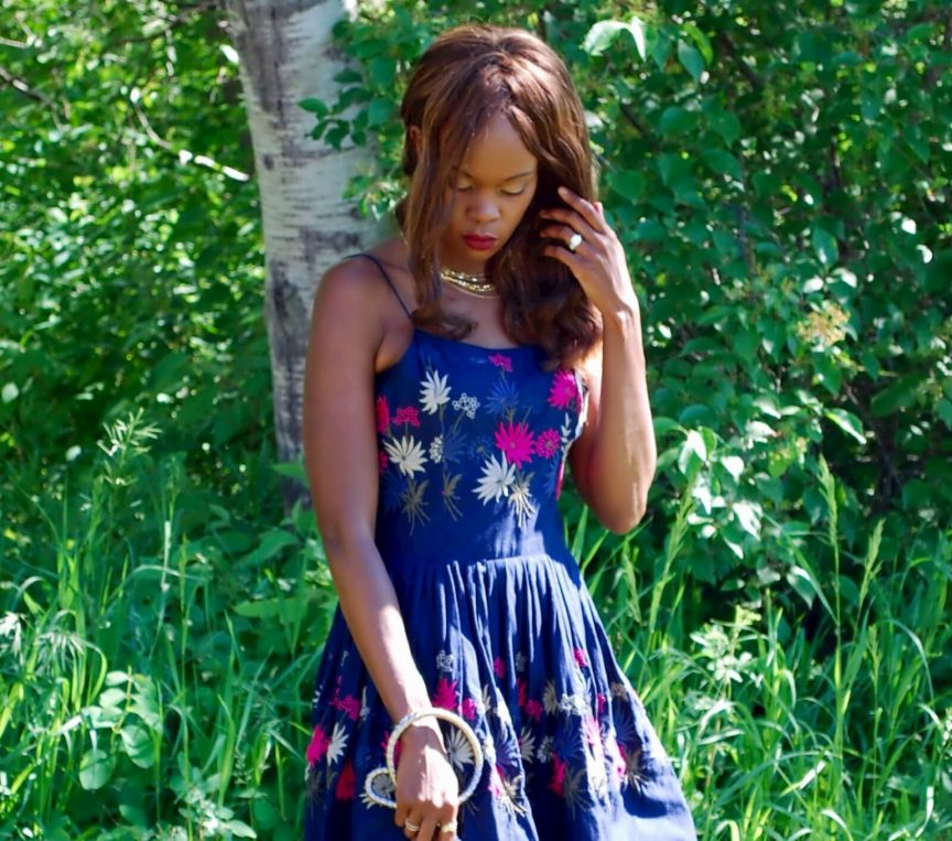 Floral dress, Floral embroidery dress, embroidery trend, style my dreams blog, Winnipeg fashion blogger, summer trends, Le Chateau heels, Elliott Lucca clutch,