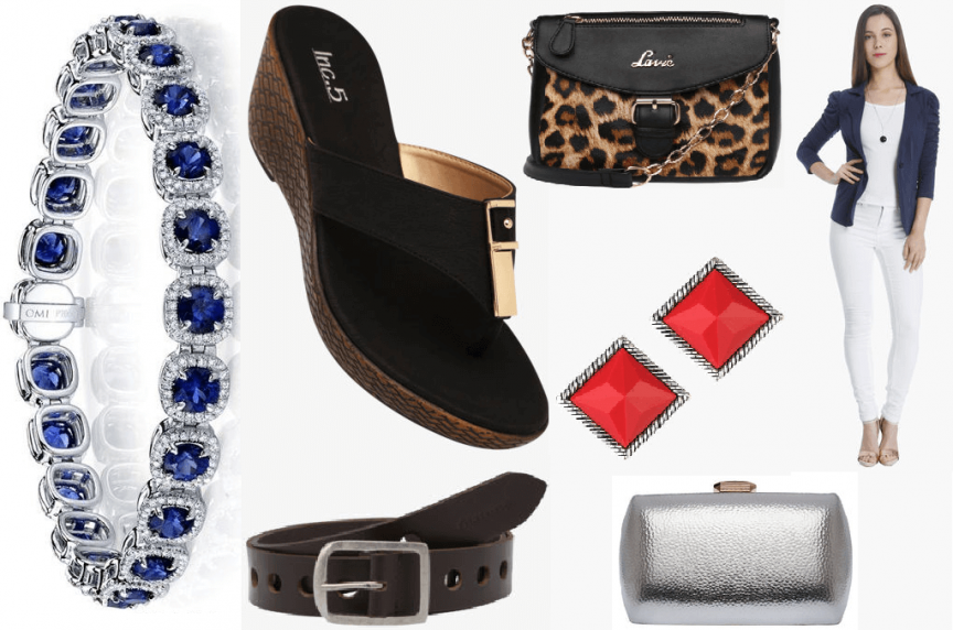 accessories, summer wear, party wear, winnipeg fashion blogger, accessories to elevate your party wear, bracelets, straw clutch, blue bracelet, animal print, metallic print clutch