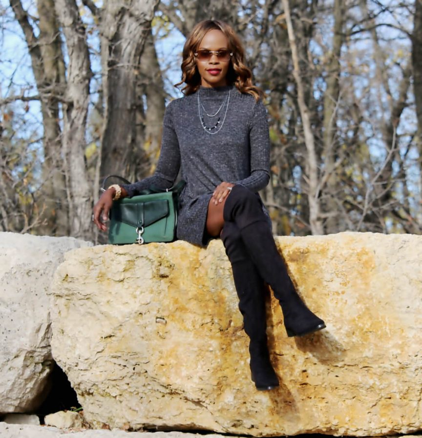 over the knee boots, fall trends, how to wear over the knee boots, how to style over the knee boots, how to wear flat over the knee boots, winnipeg fashion blogger