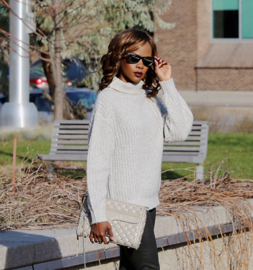 how to wear an oversized sweater, what to wear with an oversized sweater, rebecca minkoff mac clutch, Winnipeg Fashion Blogger, sweater weather, joe fresh oversized sweater