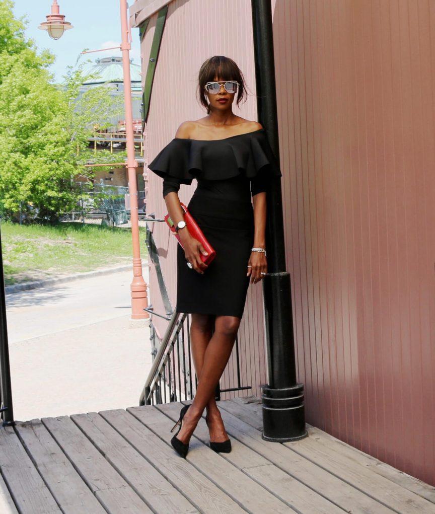 Ruffle bodysuit, how to style a bodysuit, bodysuit trend, Winnipeg Fashion Blogger, trends 2017, how to wear all black