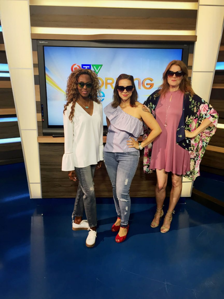 ctv morning live Winnipeg, ctv Winnipeg, runway trends, trends 2017, statement sleeve, one shoulder tops, kimono trends, how to style a slip dress, slip dress, summer trends, how to style a statement sleeve top