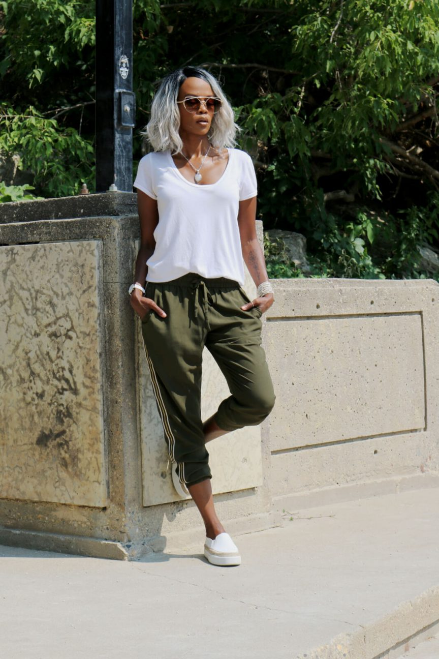 Joe fresh pants, Joggers, Jogger trends, Style My Dreams, Casual Chic Style, Summer style, Winnipeg Blogger, slip ons