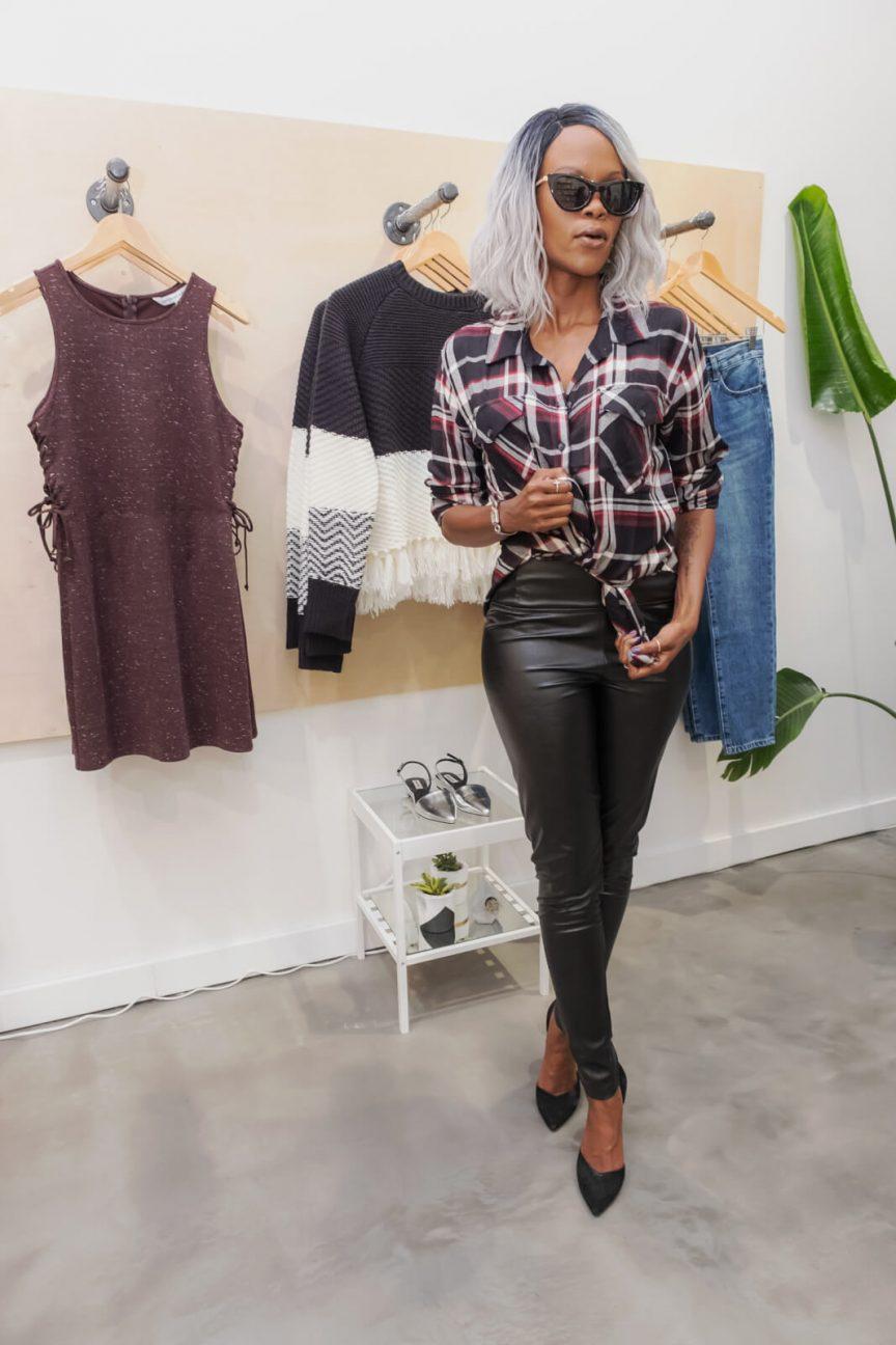 Plaid, How to wear plaid, Plaid Trend 2018, Winnipeg Fashion Blogger, Style My Dreams, Black Faux Leather Leggings, Colorful Plaid Trend