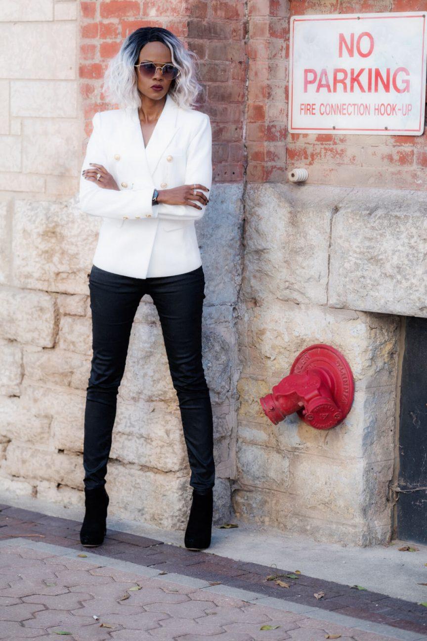 Winnipeg Fashion Blogger, White Blazer, Black Denim, Style My Dreams, How to Wear A White Blazer