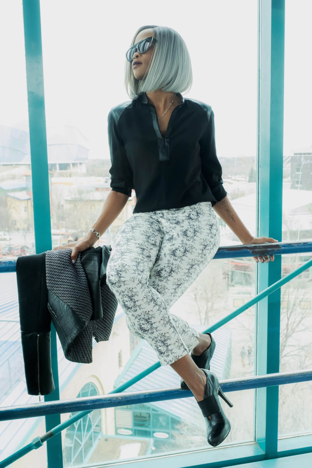 Winnipeg Fashion Blogger, Black and White Outfit, Spring Trends, Outfit ideas