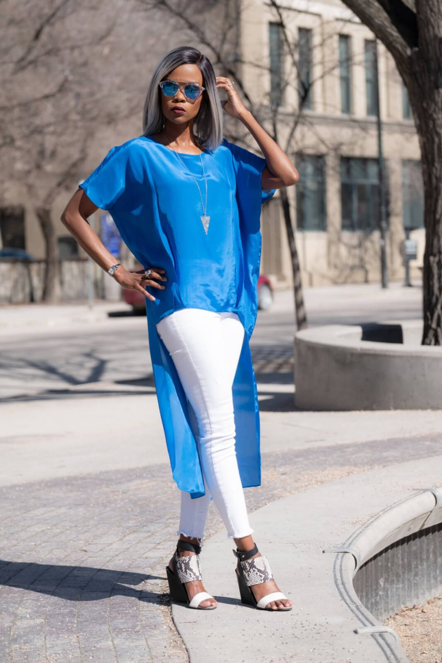 Tunic Top, Zara Blue Top, Spring fashion, Winnipeg Blogger, What to wear, Street Style, How To Style A Tunic Top