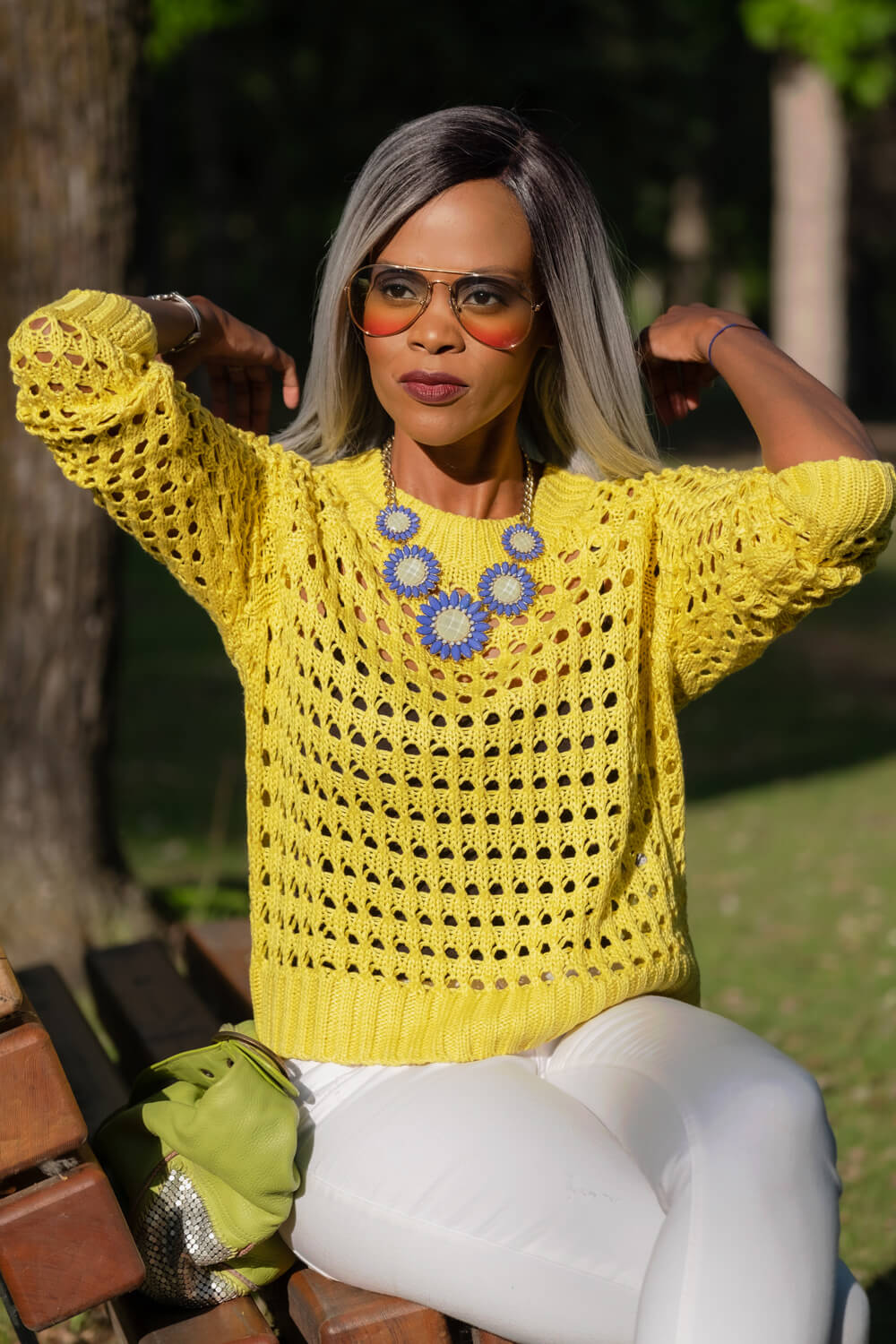 Forever 21 Sweater, Yellow Knit Sweater, Summer fashion, Summer Trends, Summer Outfit Ideas, Winnipeg Fashion Blogger