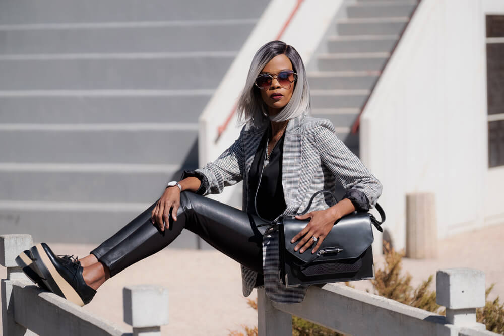 Black leather Leggings, Fall Fashion Trends, Boyfriend Blazer, Blazers, Black Platform Oxford shoes, What to wear to work