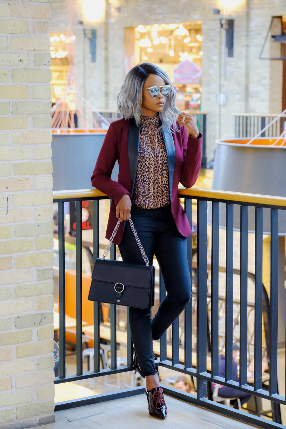 Animal Prints, What to wear, How to style a leopard print top, H&M leopard print top, fall fashion, Winnipeg blogger