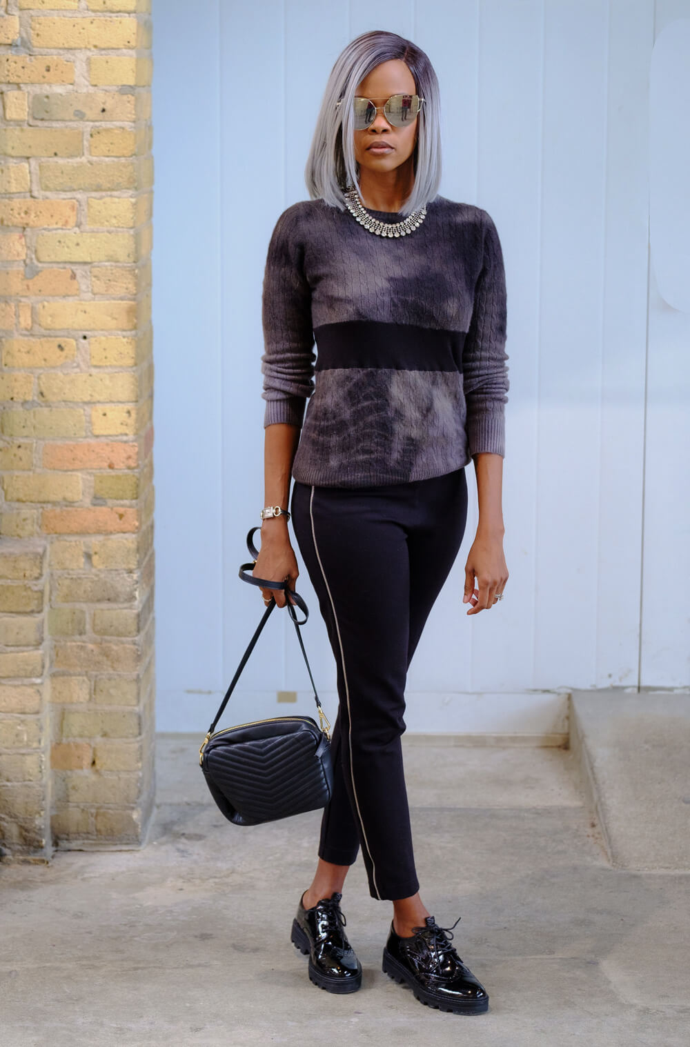 Cashmere sweater, Canadian fashion Blogger, Winnipeg Fashion Blogger, Tie Dye trend, How to style an all black outfit, Tie-Dye